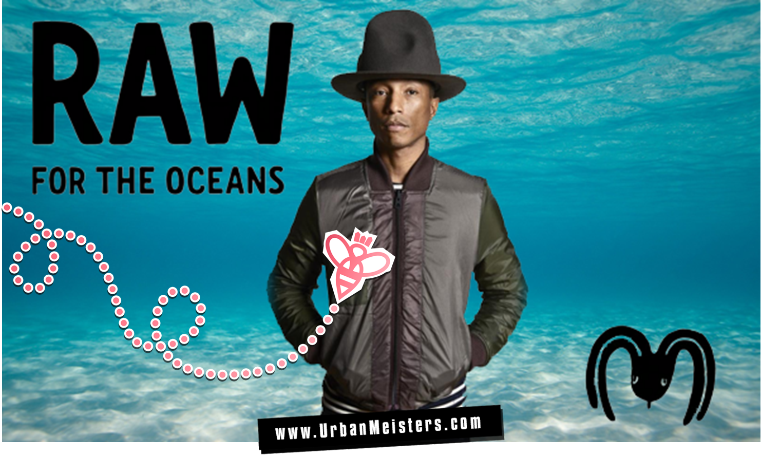 huge discount 4c850 394fa Pharrell Williams  set to save the Oceans with G-Star Raw Jeans spun from  trash