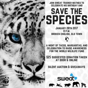 Green Living Event: WWF Fundraiser with SWEAT on eve the species