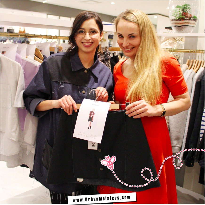 Fashion innovation label WYLDE Creative Head Clarissa with UrbanMeisters Editor in Chief Mirela Orlovic
