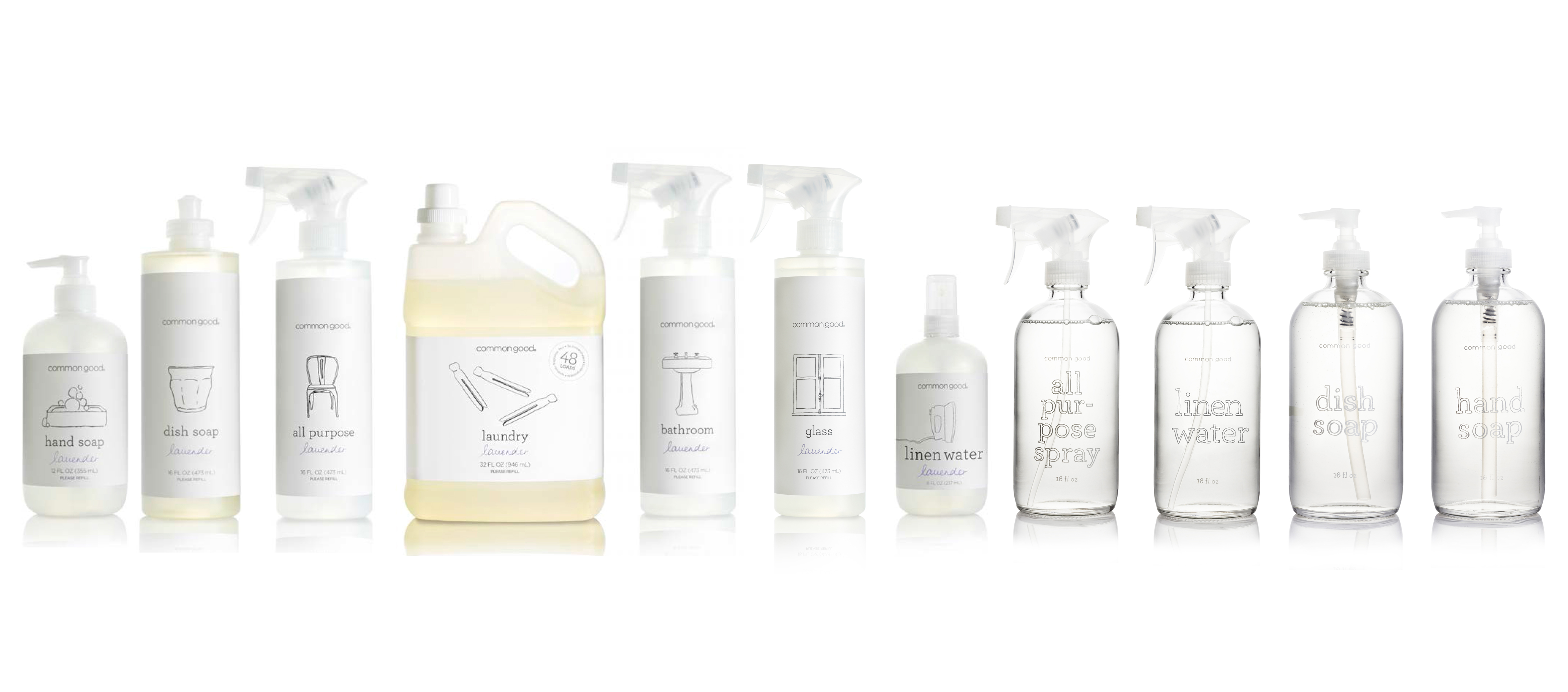 Non-toxic cleaning products current range