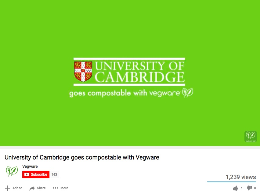 VEGWARE & CAMBRIDGE UNI