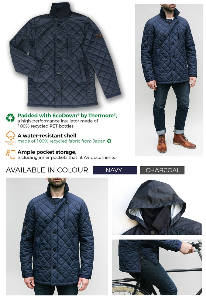 ASANOX OUTERWEAR- RECYCLED OVERCOAT