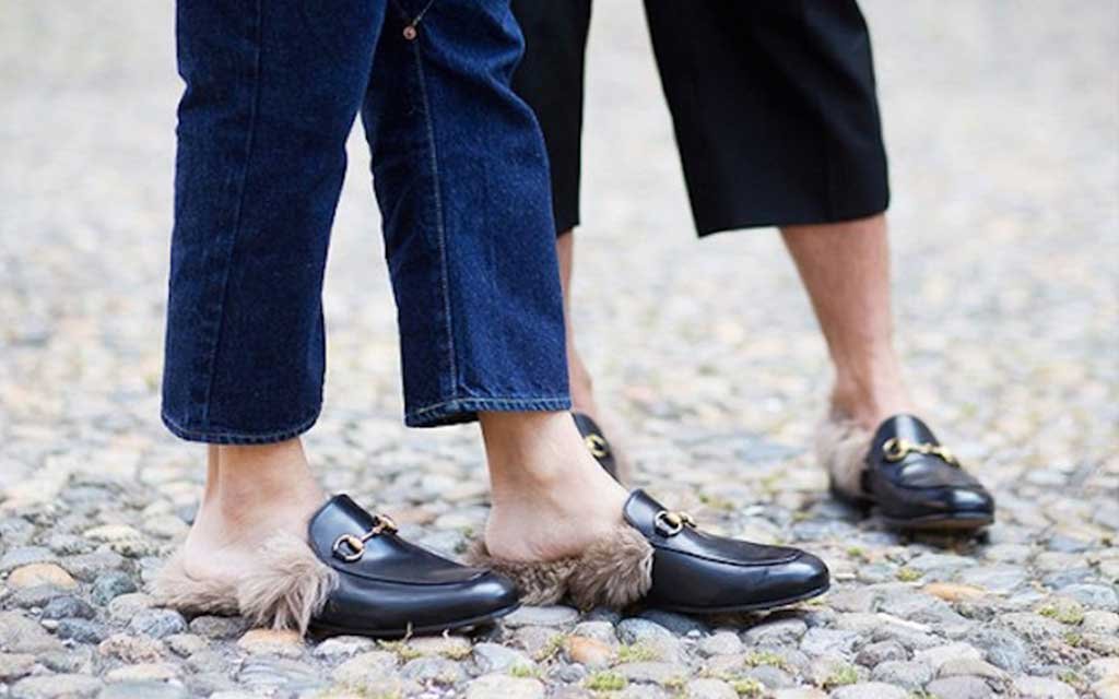 not fur free gucci loafers