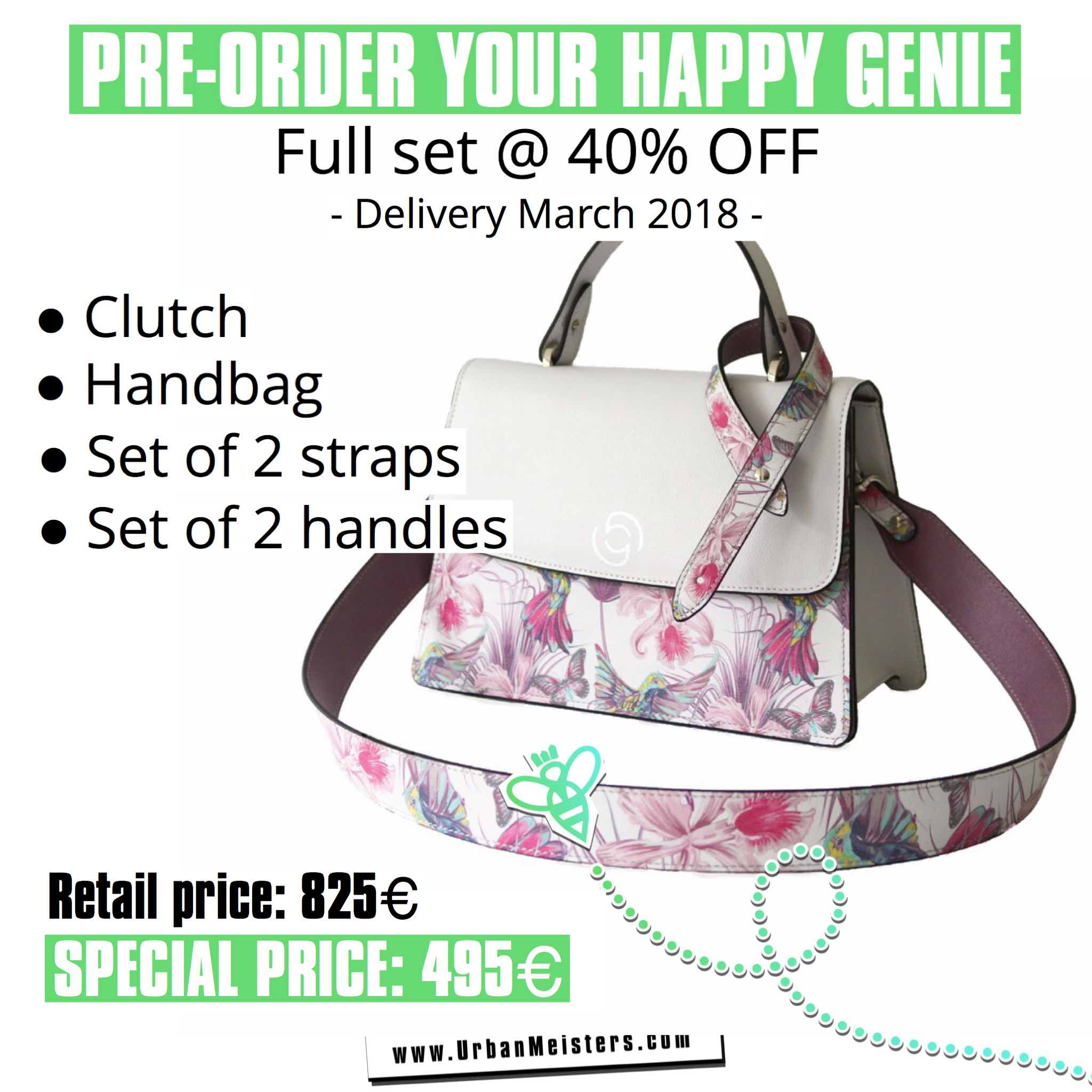 vegan handbags happy genie pre order 1