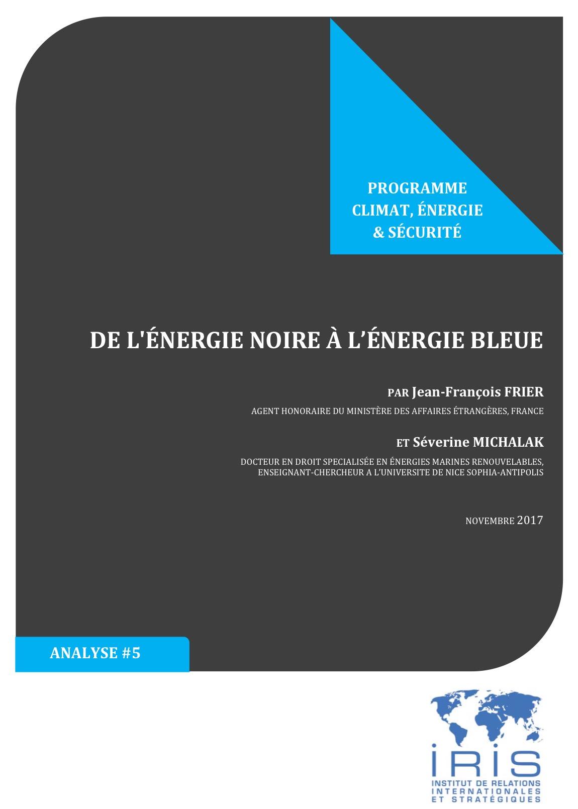De l'énergie noire à l'énergie bleue_Jean-François Frier_Séverine Michalak