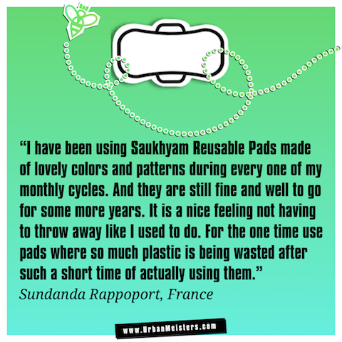 Saukhyam re-usable pads testimonial 1