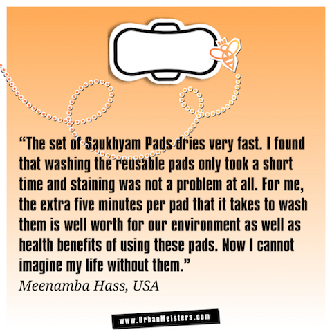 Saukhyam re-usable pads testimonial 2