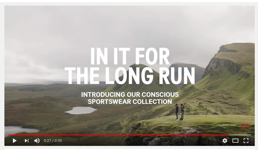 sustainable sportswear video