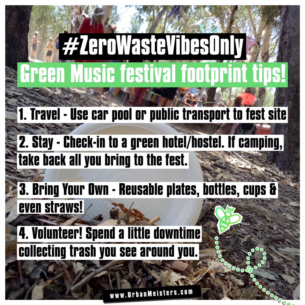 Zero waste music tips